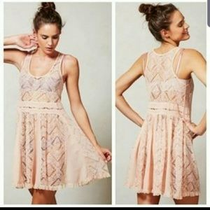 Anthrpologie e by eloise pink lace dress size S